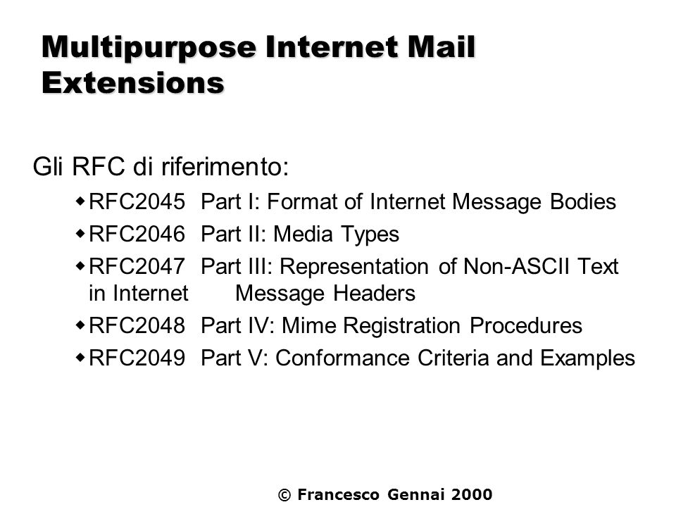 Multipurpose Internet Mail Extensions