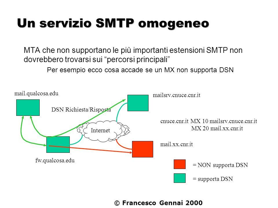 Un servizio SMTP omogeneo