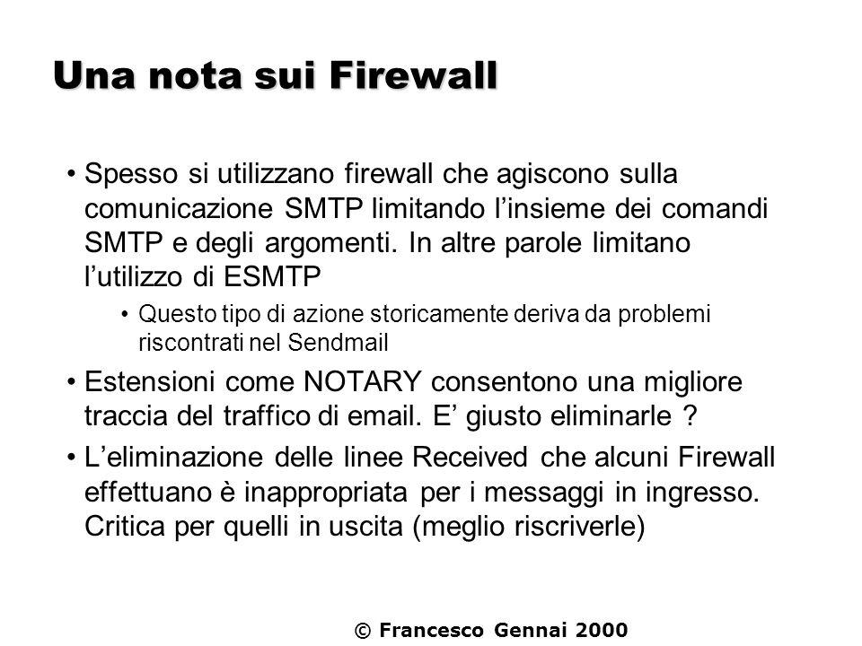Una nota sui Firewall