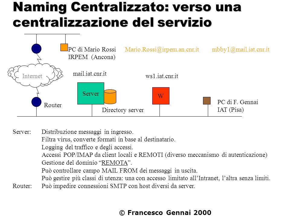Naming Centralizzato: verso una centralizzazione del servizio