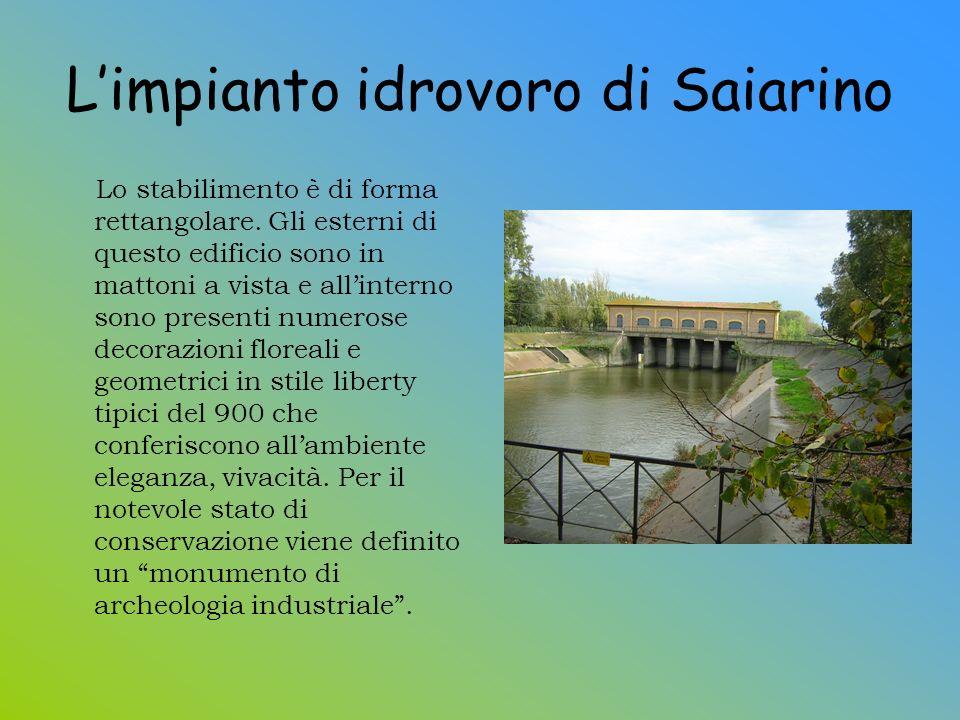 L'impianto idrovoro di Saiarino