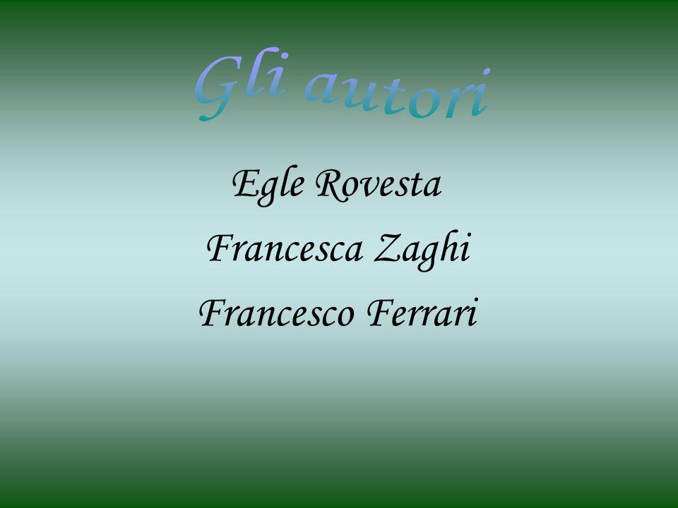 Gli autori Egle Rovesta Francesca Zaghi Francesco Ferrari