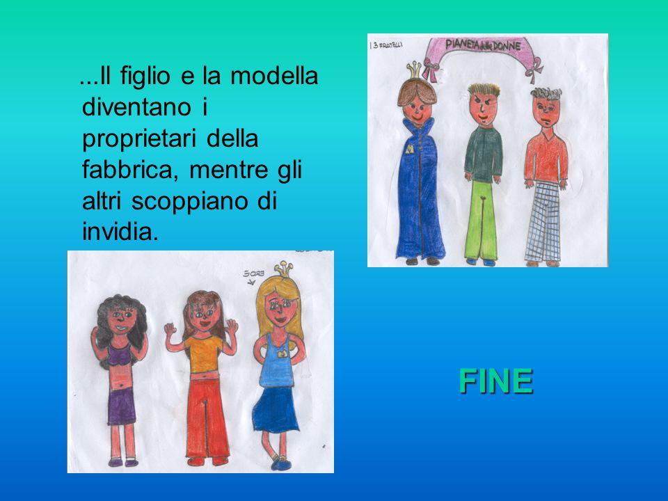 ...Il figlio e la modella diventano i proprietari della fabbrica, mentre gli altri scoppiano di invidia.