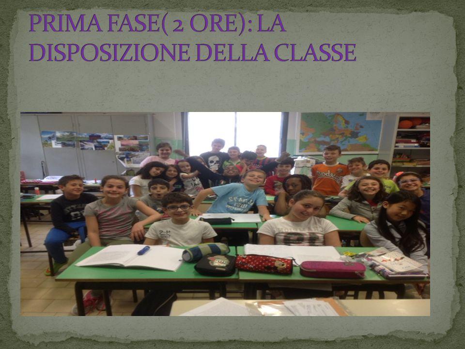 PRIMA FASE( 2 ORE): LA DISPOSIZIONE DELLA CLASSE