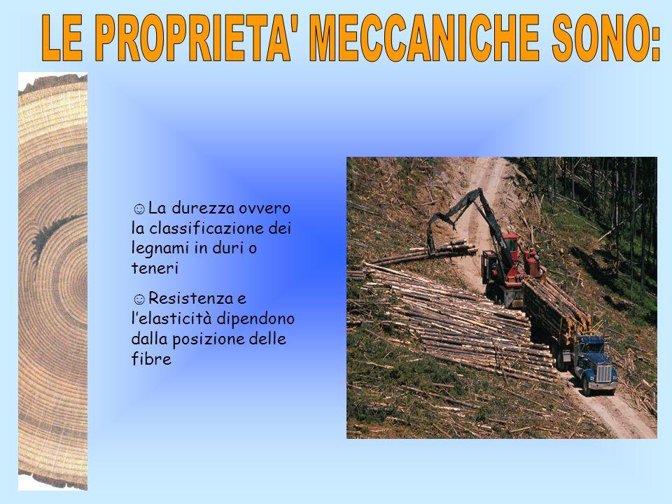 LE PROPRIETA MECCANICHE SONO: