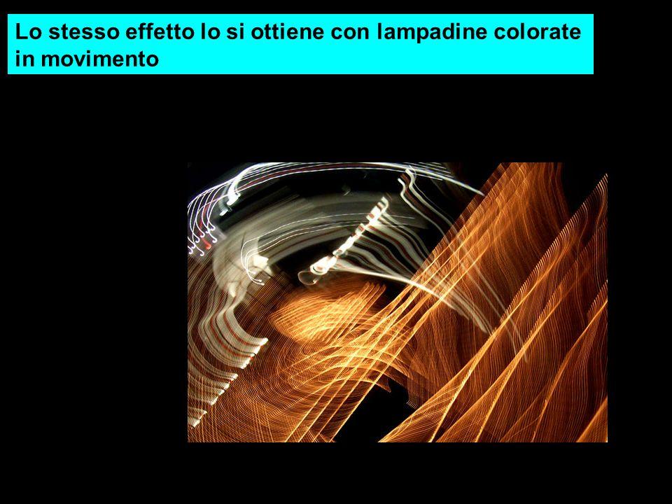 Lo stesso effetto lo si ottiene con lampadine colorate