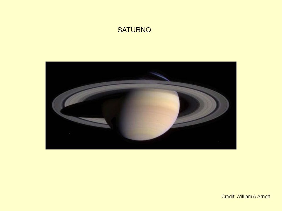 SATURNO Credit: William A.Arnett