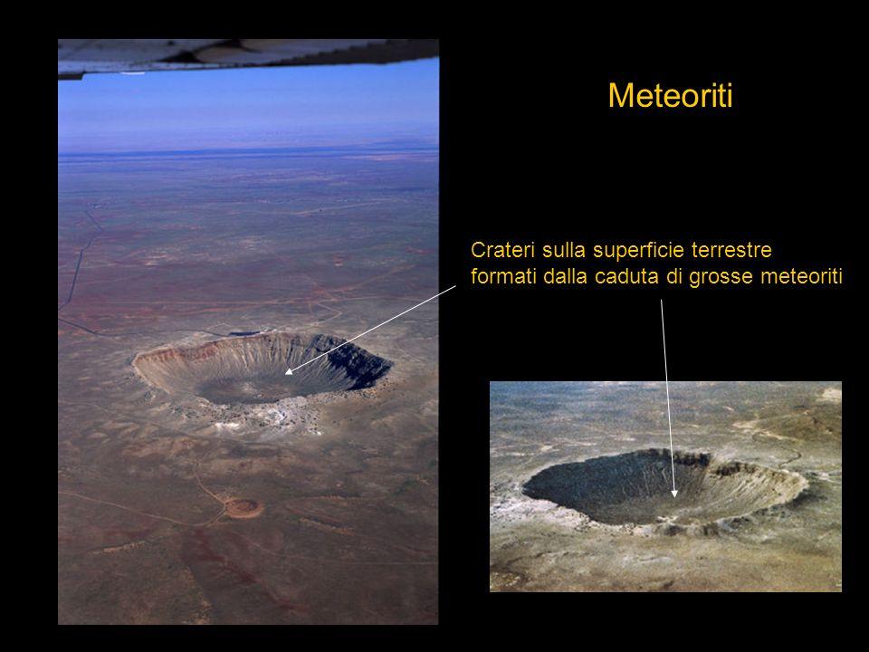Meteoriti Crateri sulla superficie terrestre