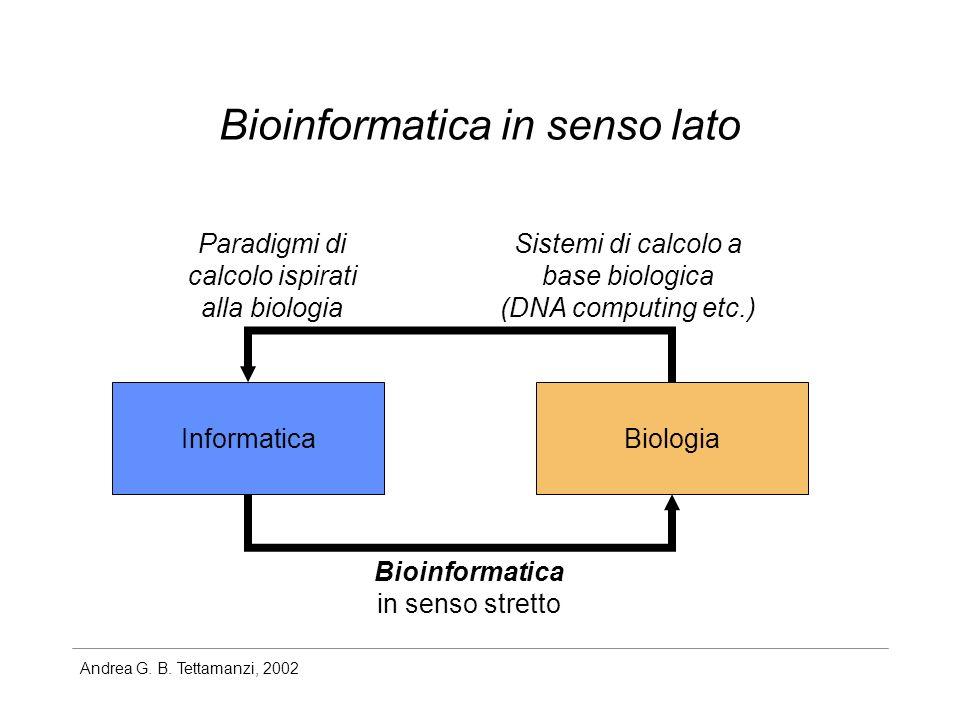 Bioinformatica in senso lato