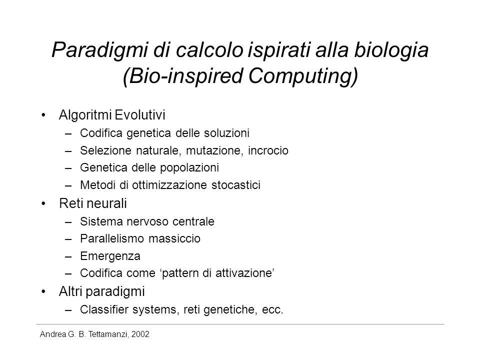 Paradigmi di calcolo ispirati alla biologia (Bio-inspired Computing)