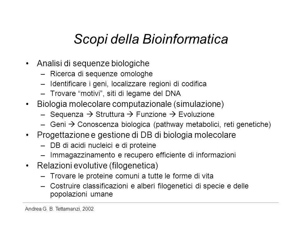 Scopi della Bioinformatica