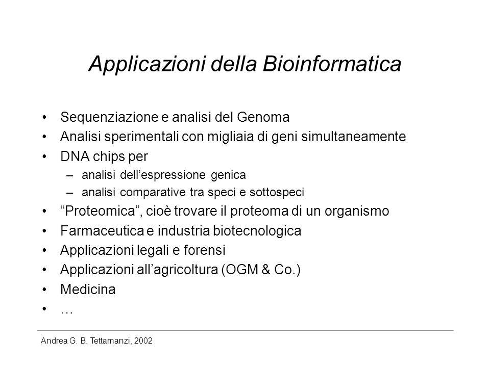 Applicazioni della Bioinformatica