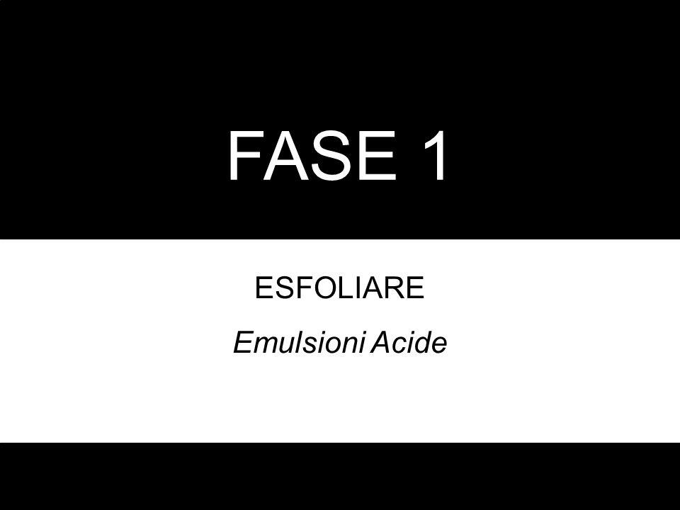 FASE 1 ESFOLIARE Emulsioni Acide
