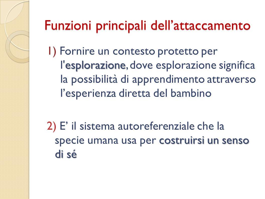 Funzioni principali dell'attaccamento