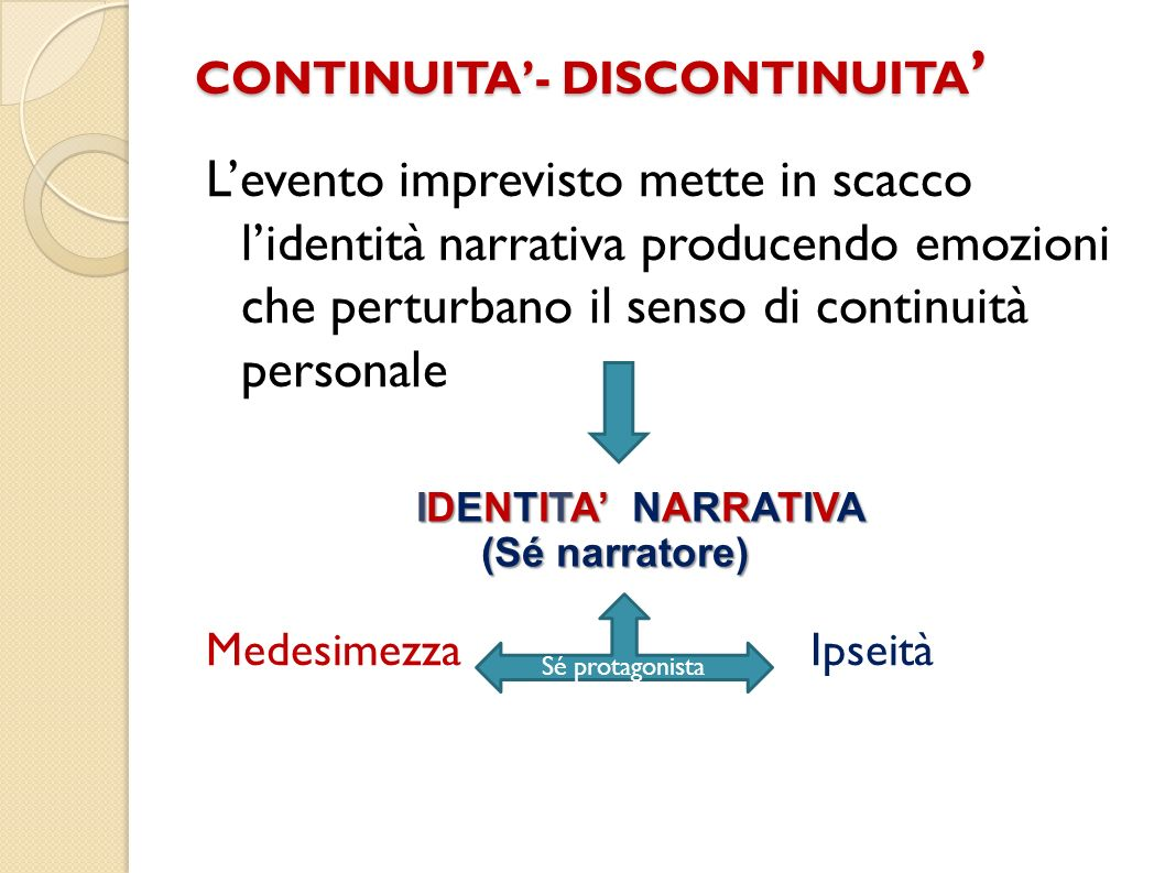 CONTINUITA'- DISCONTINUITA'