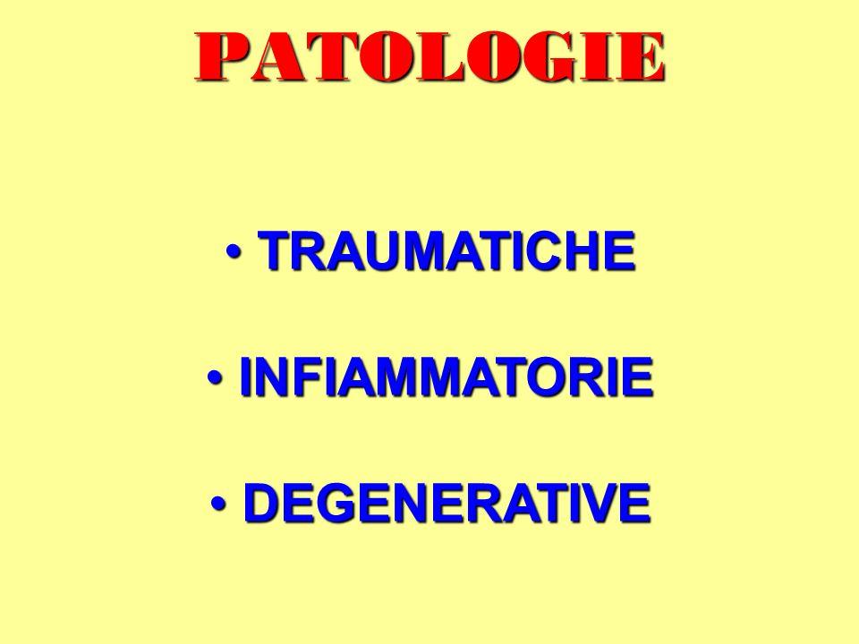PATOLOGIE TRAUMATICHE INFIAMMATORIE DEGENERATIVE
