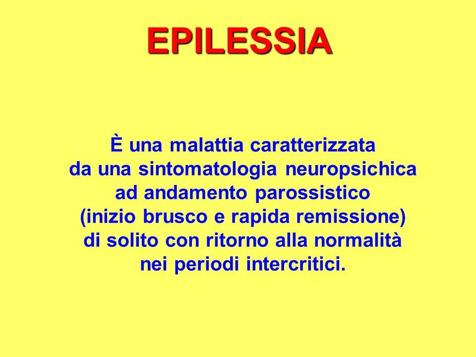 EPILESSIA È una malattia caratterizzata
