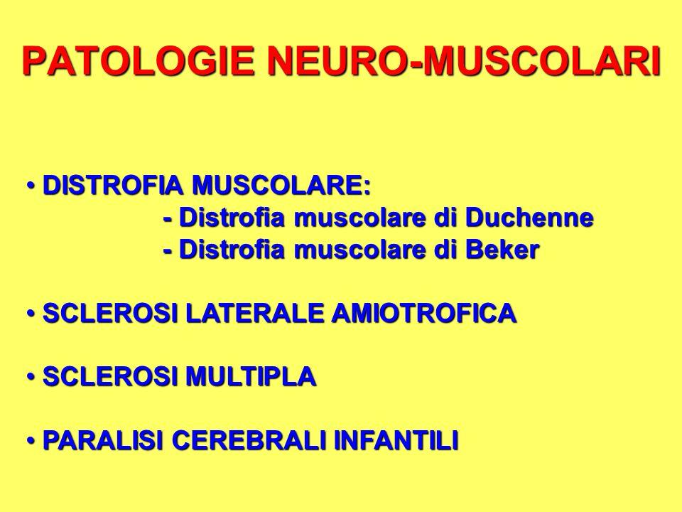 PATOLOGIE NEURO-MUSCOLARI
