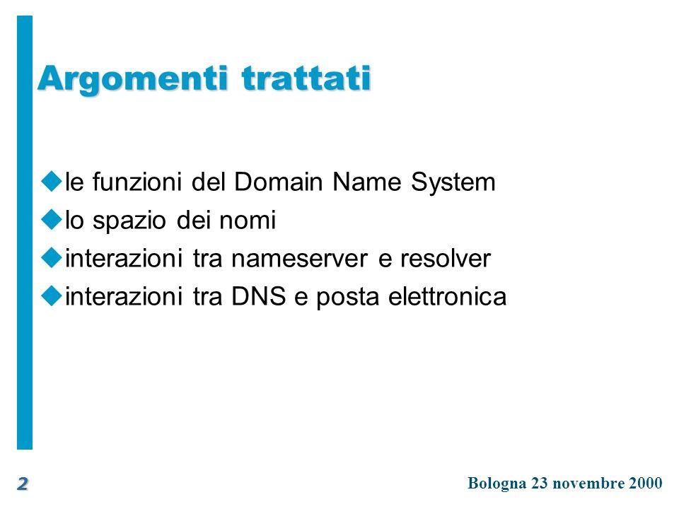 Argomenti trattati le funzioni del Domain Name System
