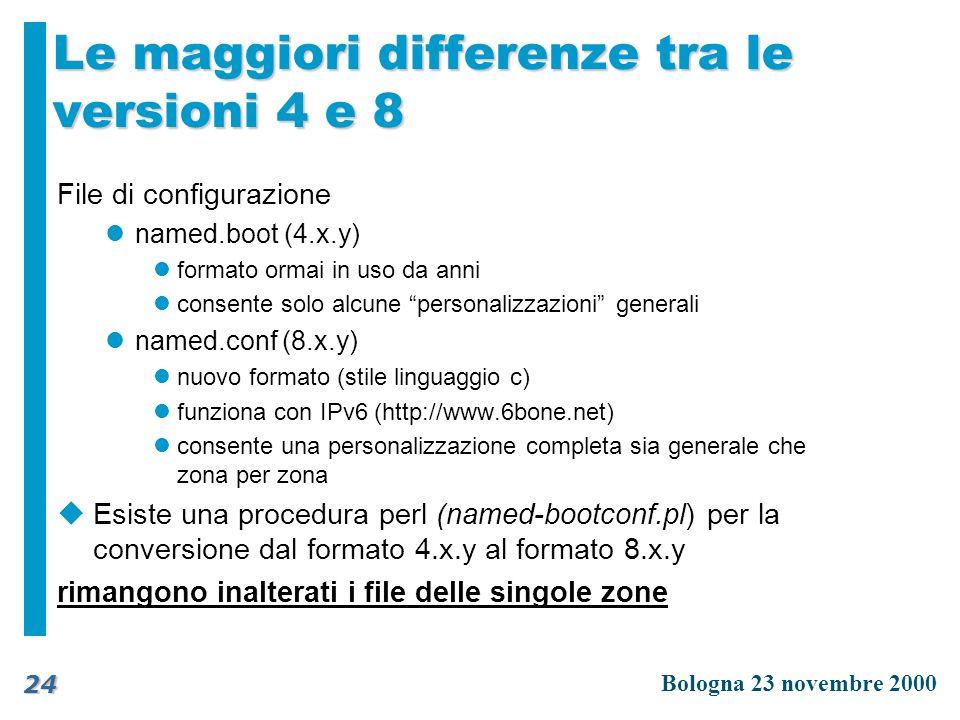 Le maggiori differenze tra le versioni 4 e 8