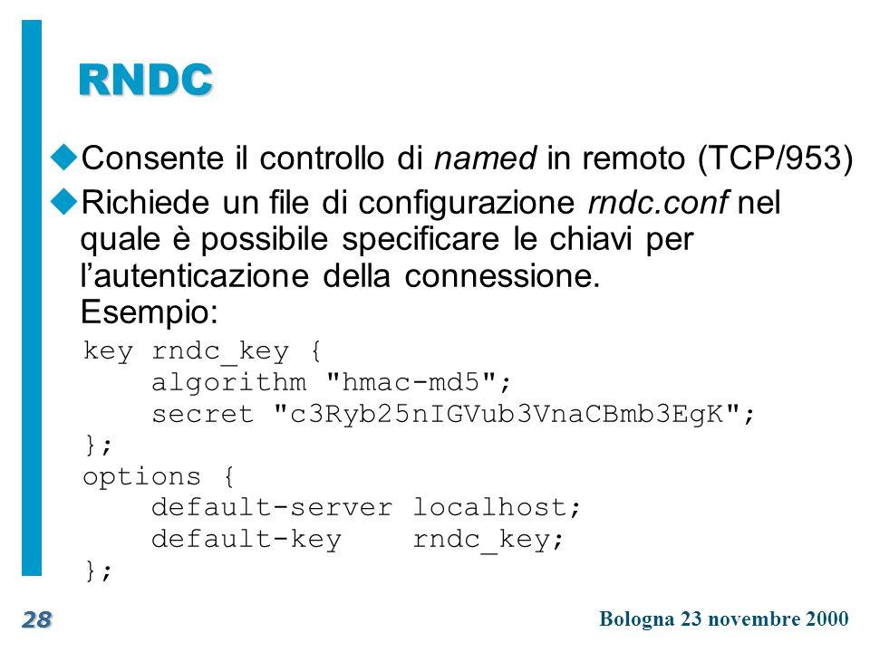 RNDC Consente il controllo di named in remoto (TCP/953)