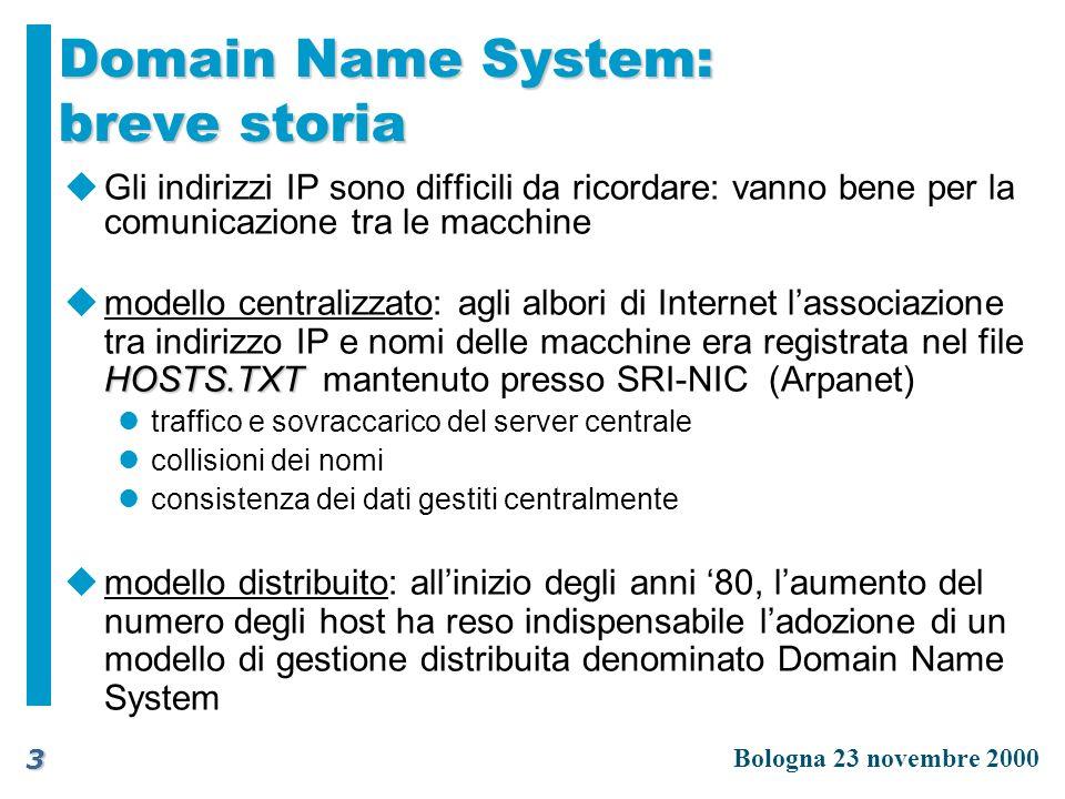 Domain Name System: breve storia