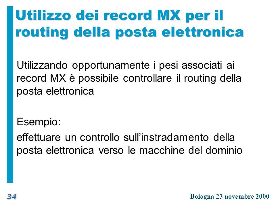 Utilizzo dei record MX per il routing della posta elettronica