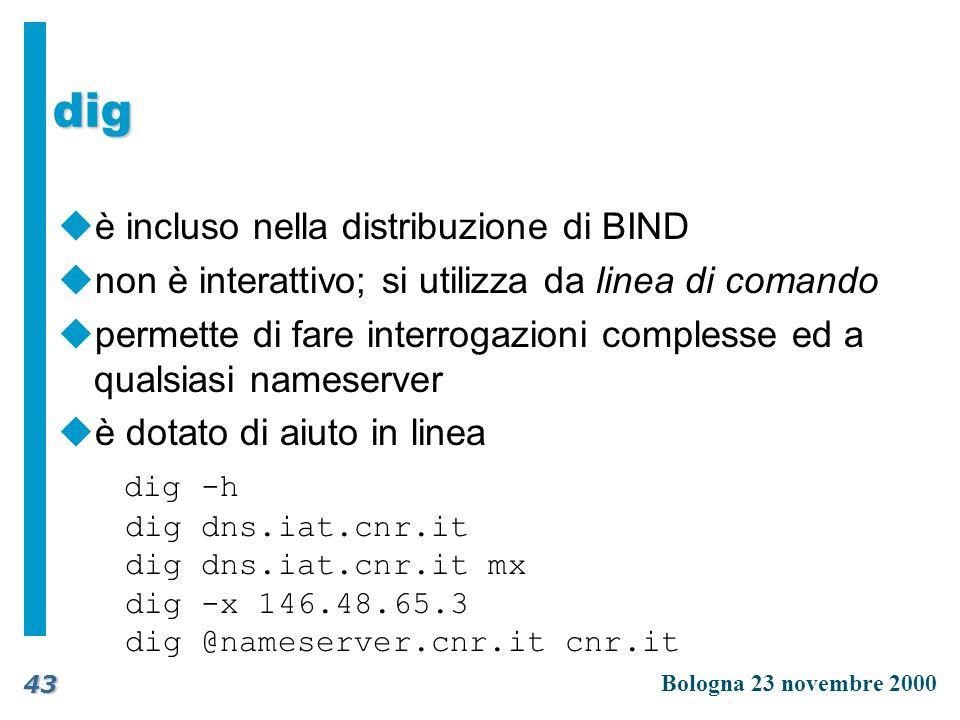 dig è incluso nella distribuzione di BIND