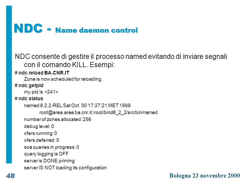 NDC - Name daemon control