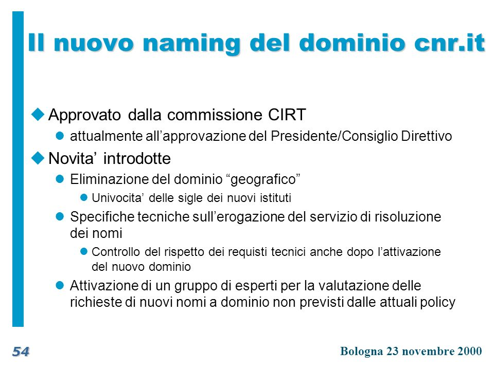 Il nuovo naming del dominio cnr.it
