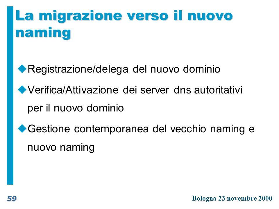 La migrazione verso il nuovo naming