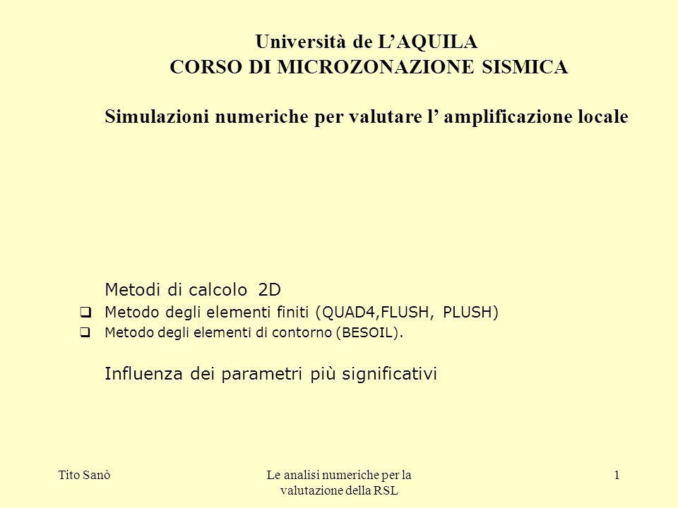 Università de L'AQUILA
