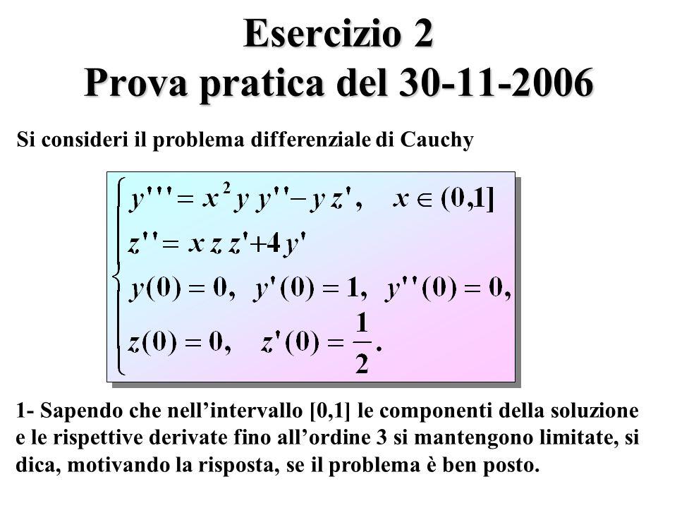 Esercizio 2 Prova pratica del 30-11-2006