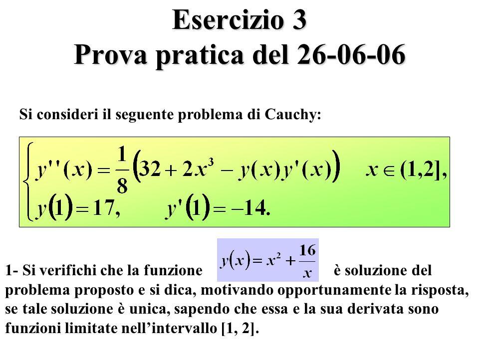 Esercizio 3 Prova pratica del 26-06-06
