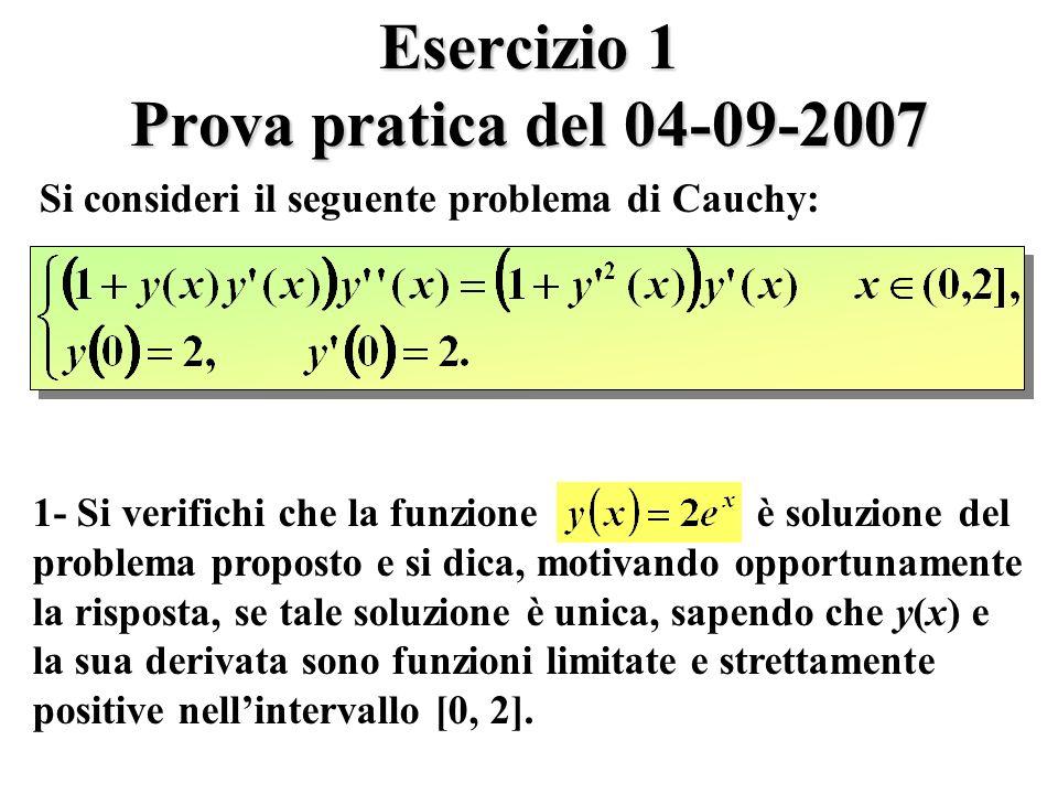 Esercizio 1 Prova pratica del 04-09-2007
