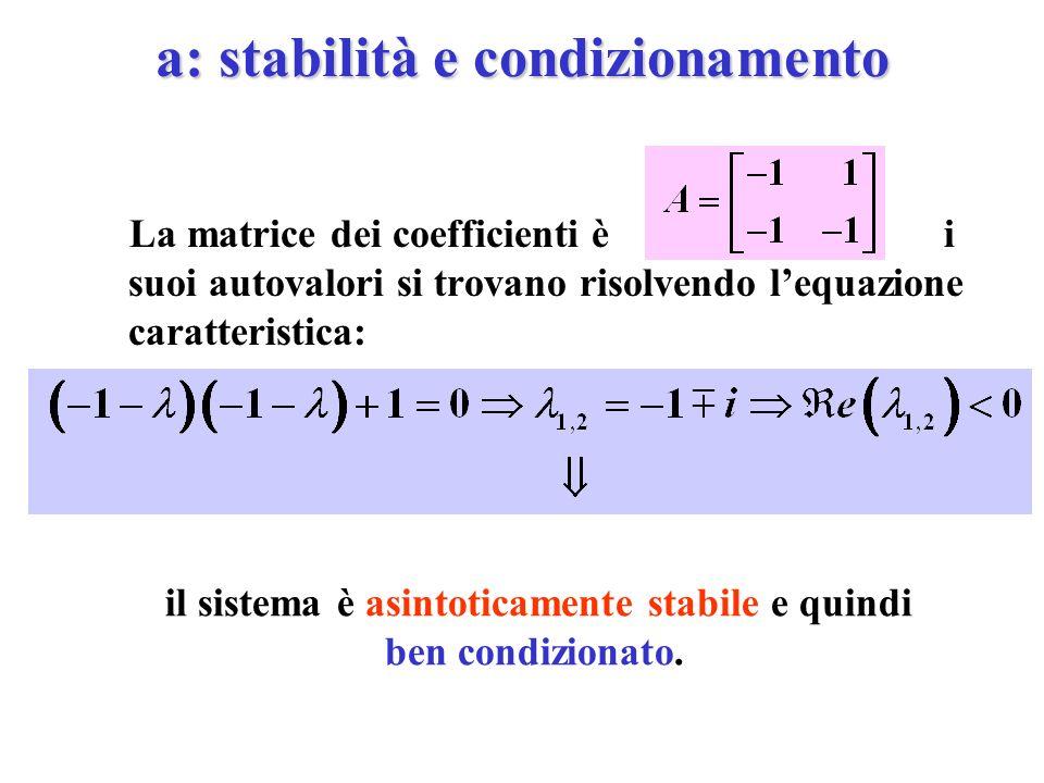a: stabilità e condizionamento
