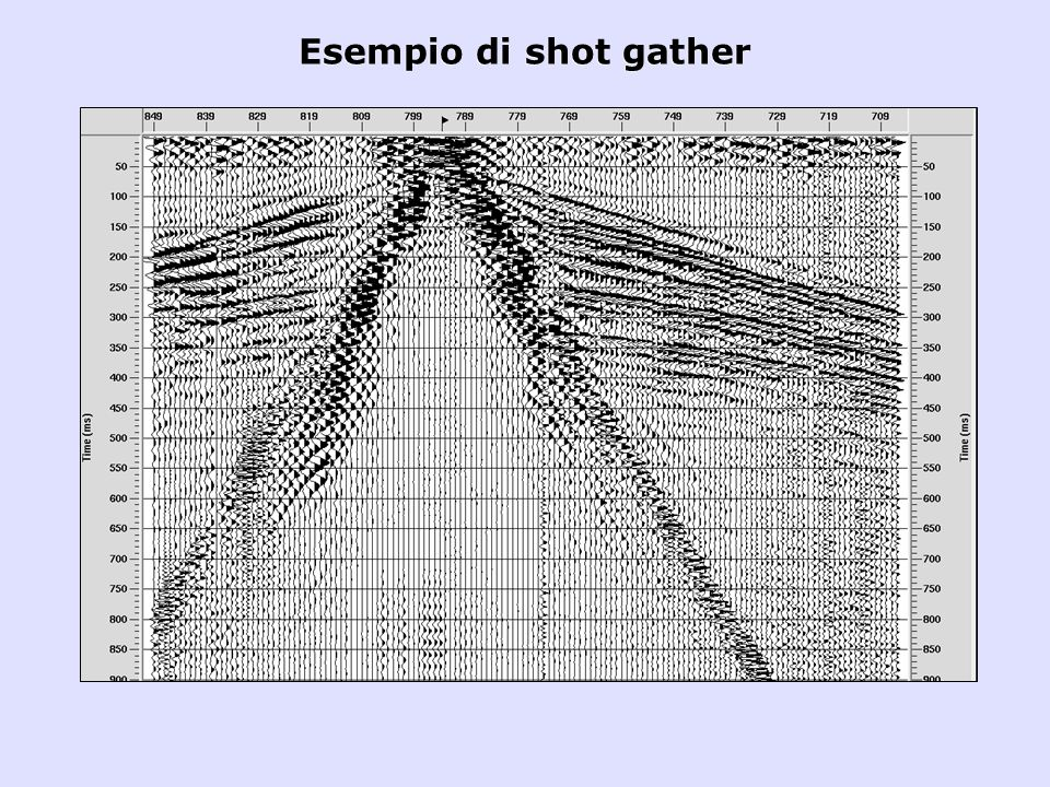 Esempio di shot gather