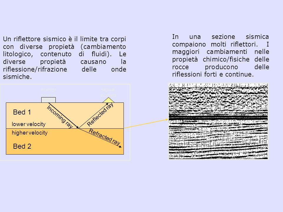 In una sezione sismica compaiono molti riflettori