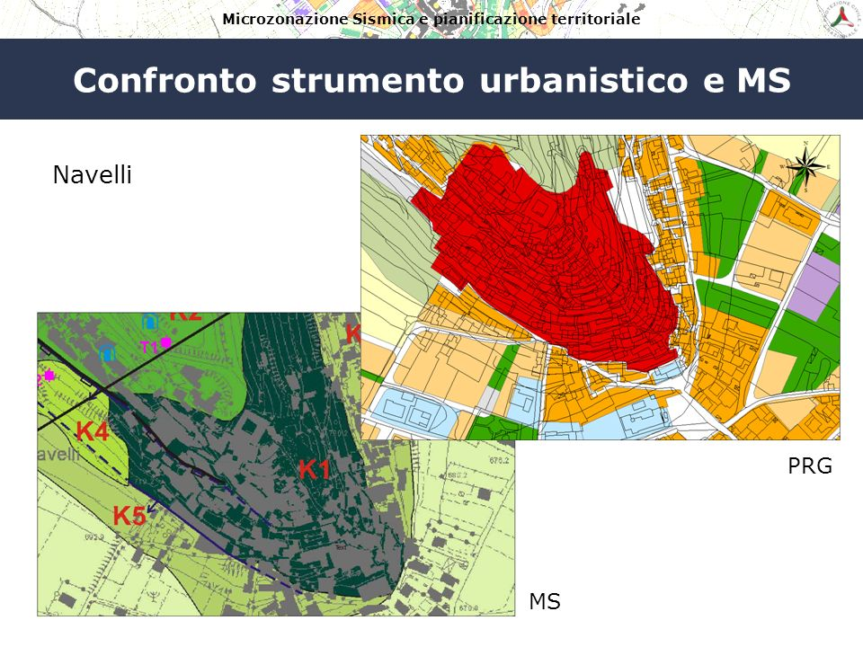 Confronto strumento urbanistico e MS