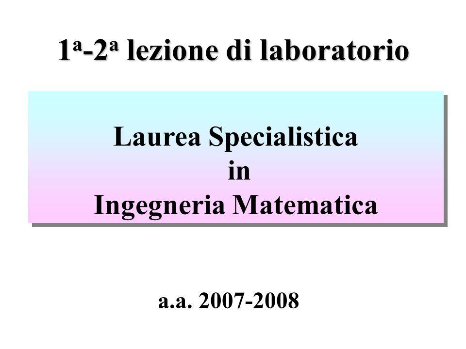 1a-2a lezione di laboratorio