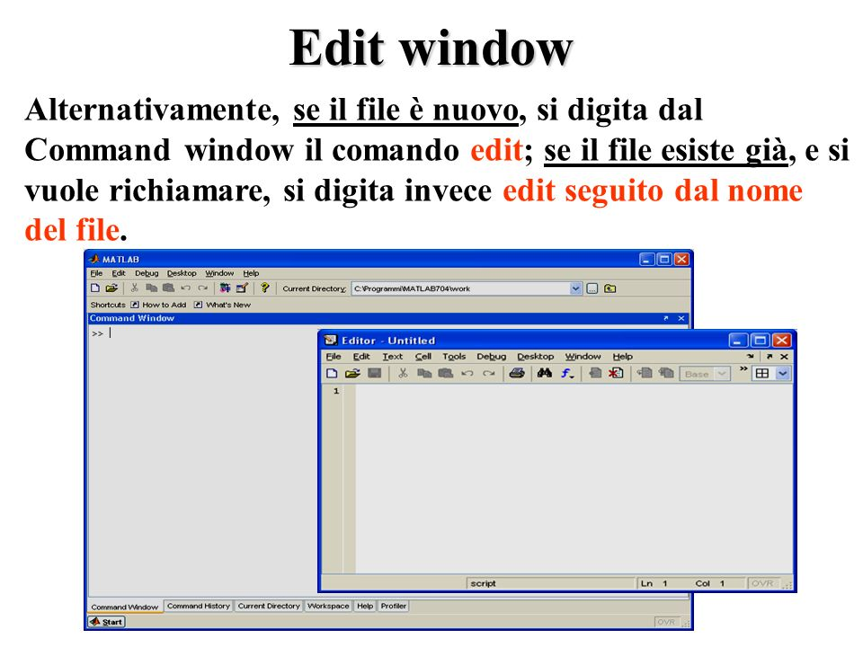 Edit window