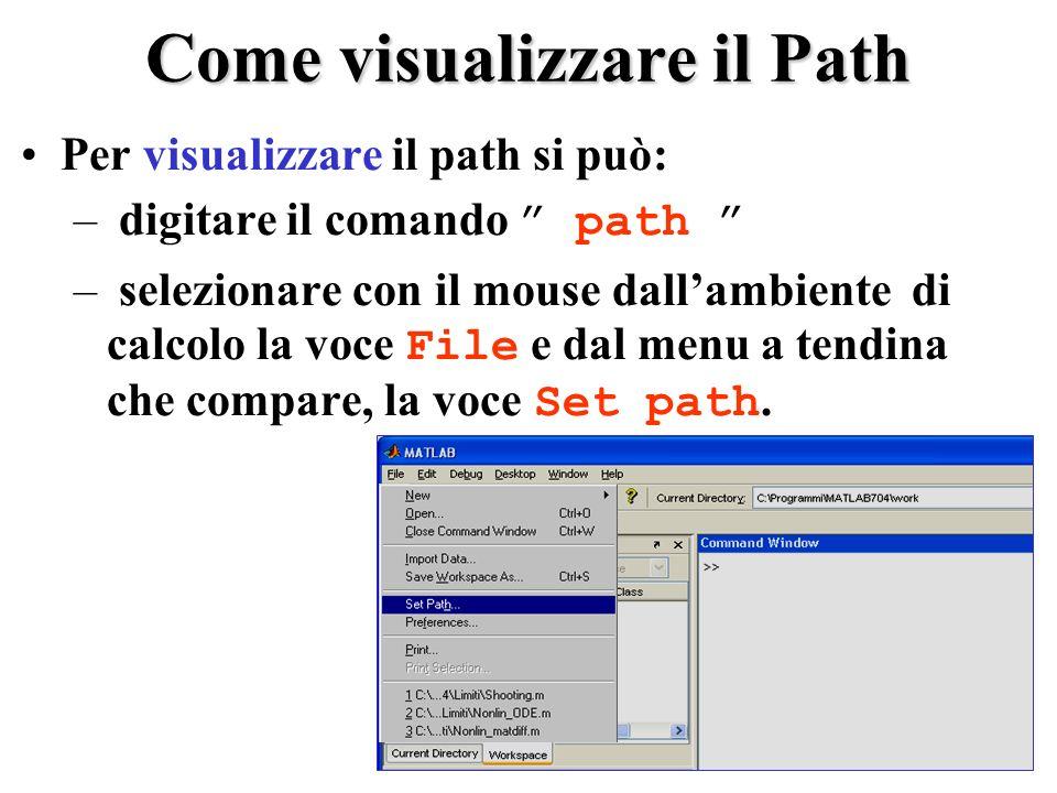 Come visualizzare il Path