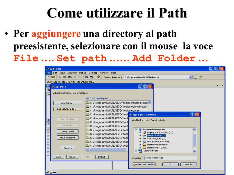 Come utilizzare il Path