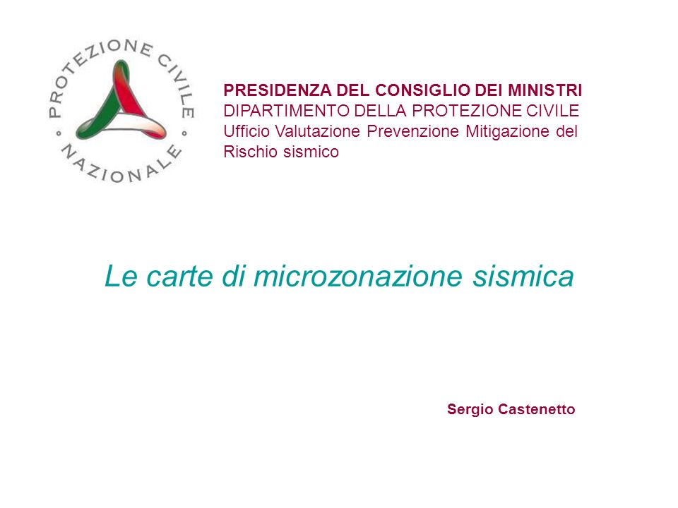 Le carte di microzonazione sismica