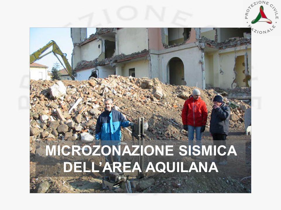 MICROZONAZIONE SISMICA DELL'AREA AQUILANA