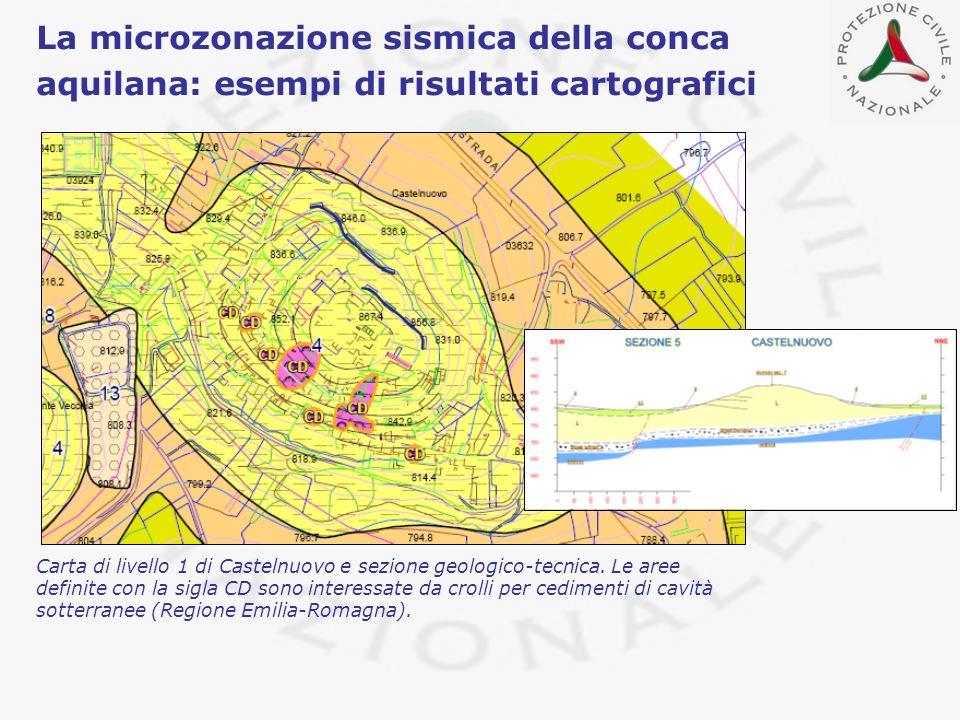 La microzonazione sismica della conca