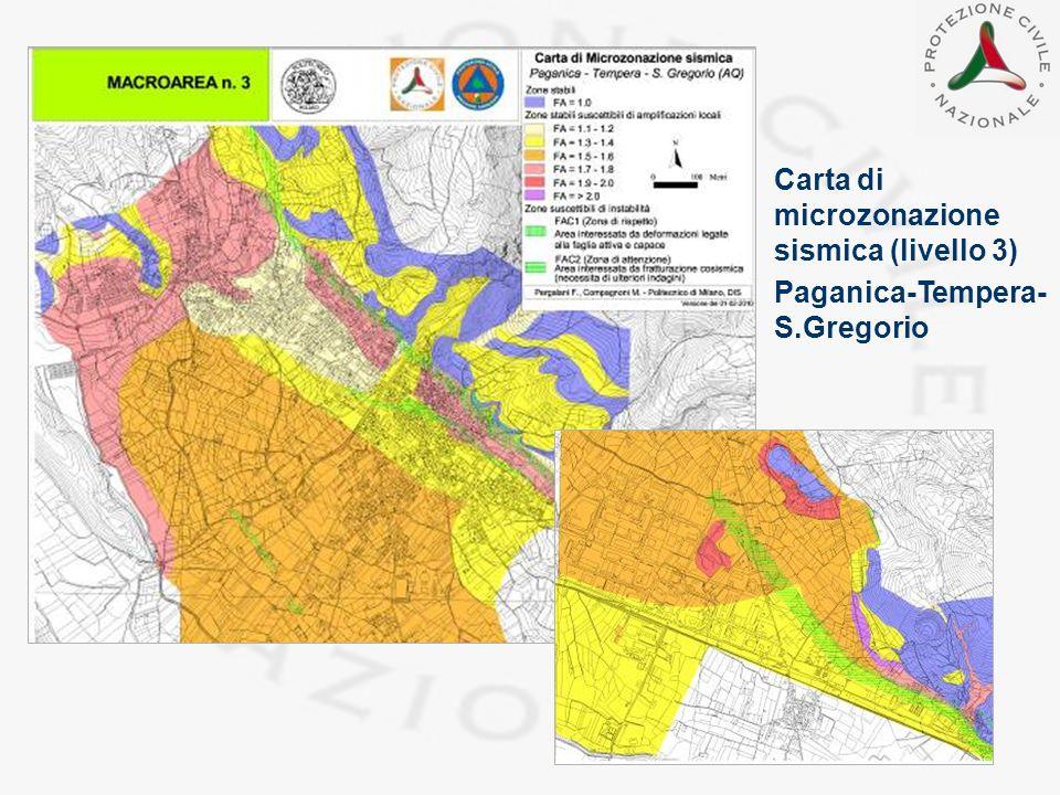Carta di microzonazione sismica (livello 3)