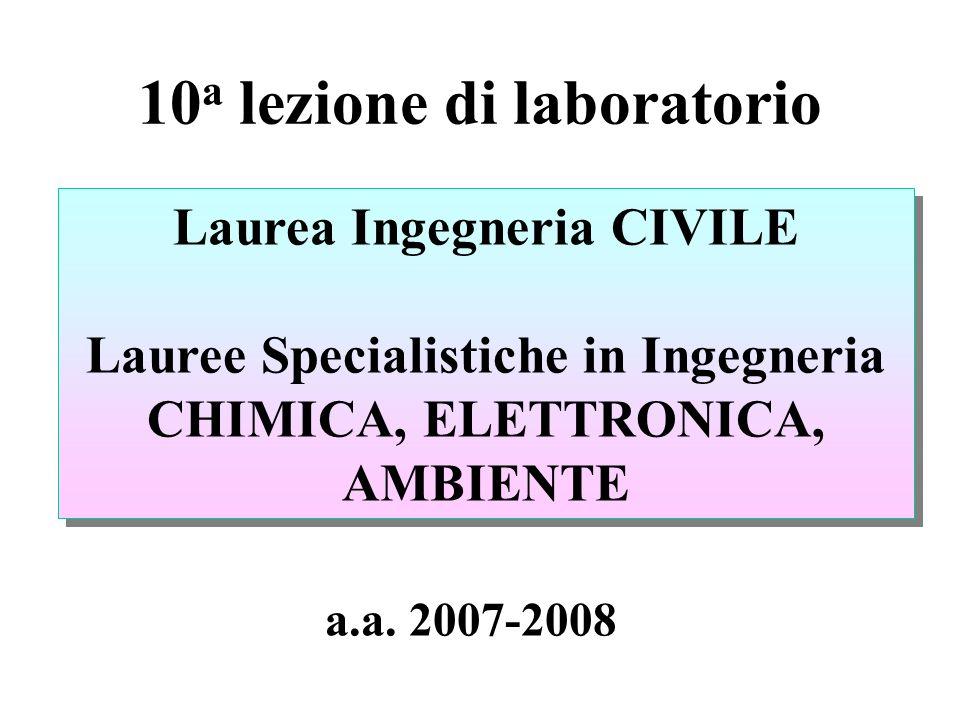 10a lezione di laboratorio