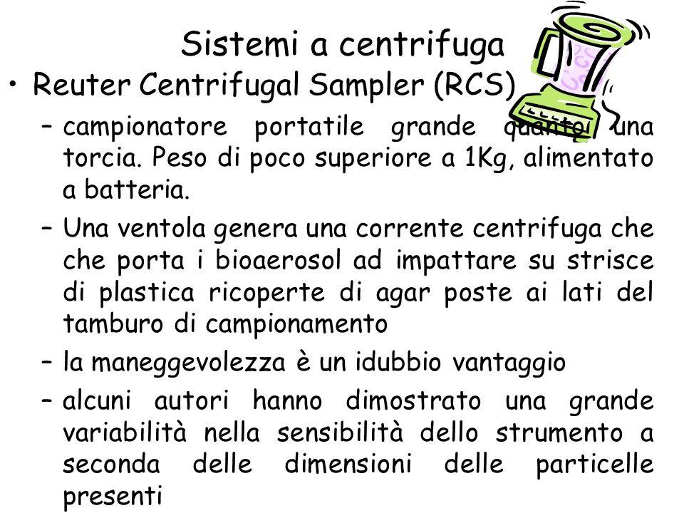 Sistemi a centrifuga Reuter Centrifugal Sampler (RCS)