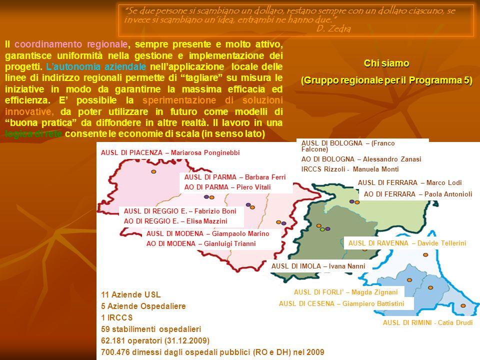 (Gruppo regionale per il Programma 5)